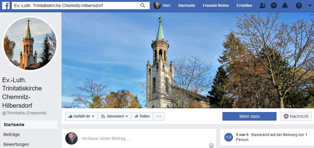 Trinitatis bei Facebook